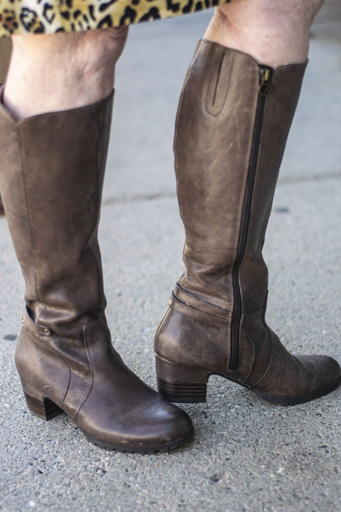 Styling knee high boots for fall