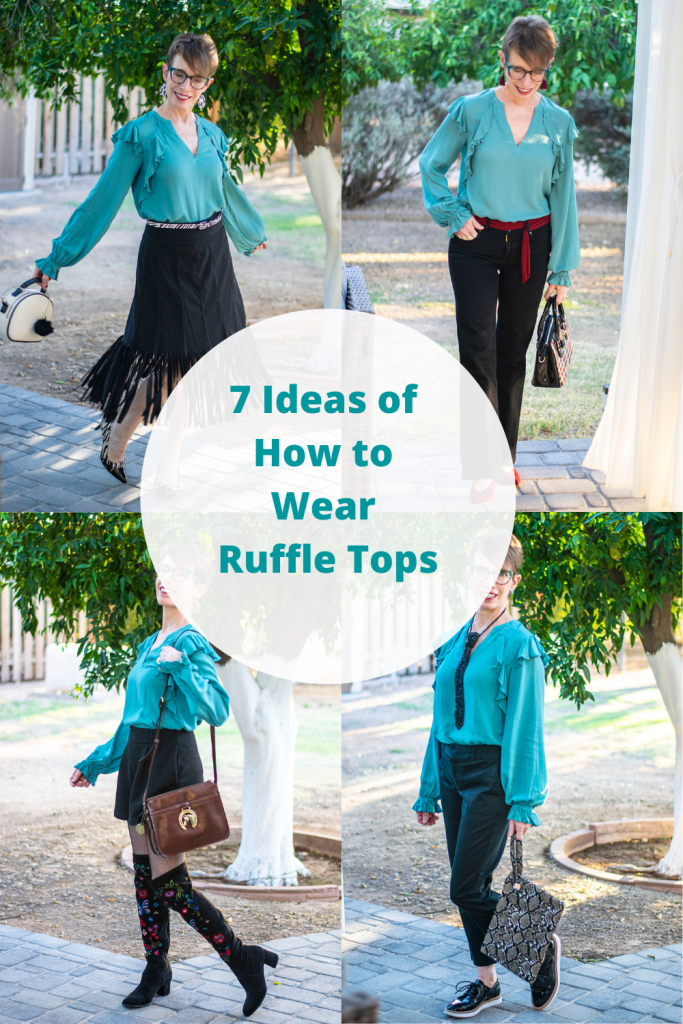 7 ideas of how to wear ruffle tops