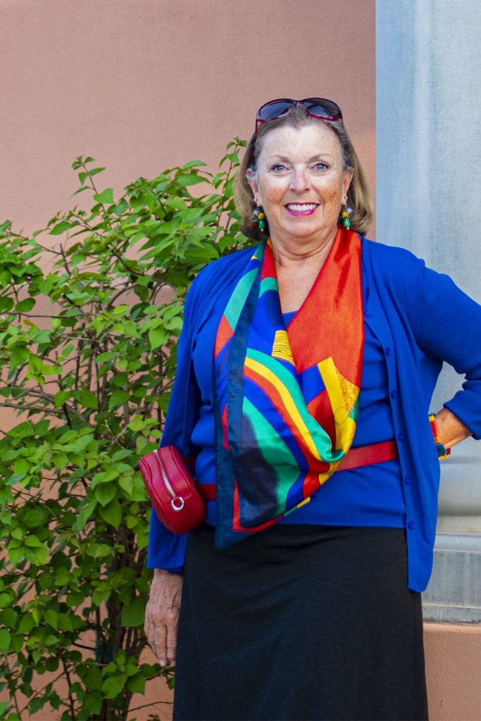 Woman wearing flattering colors
