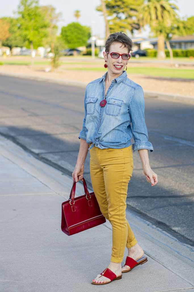 Neutral color with jeans