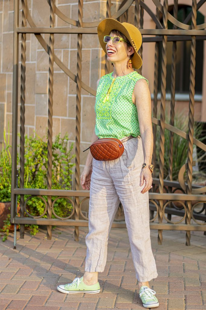 Green and tan for warm skin tone clothes colors