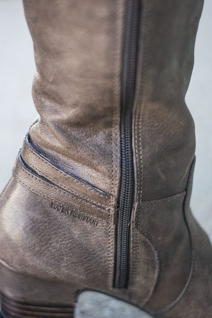 Water resistant knee high boots for fall