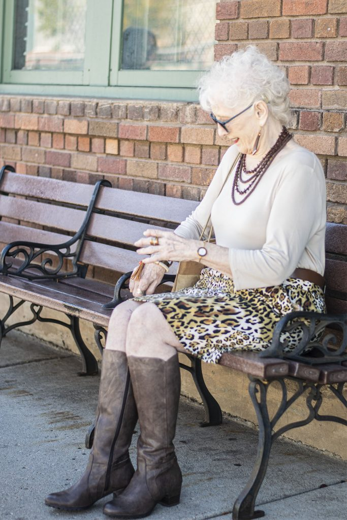 Older women and knee high boots for fall