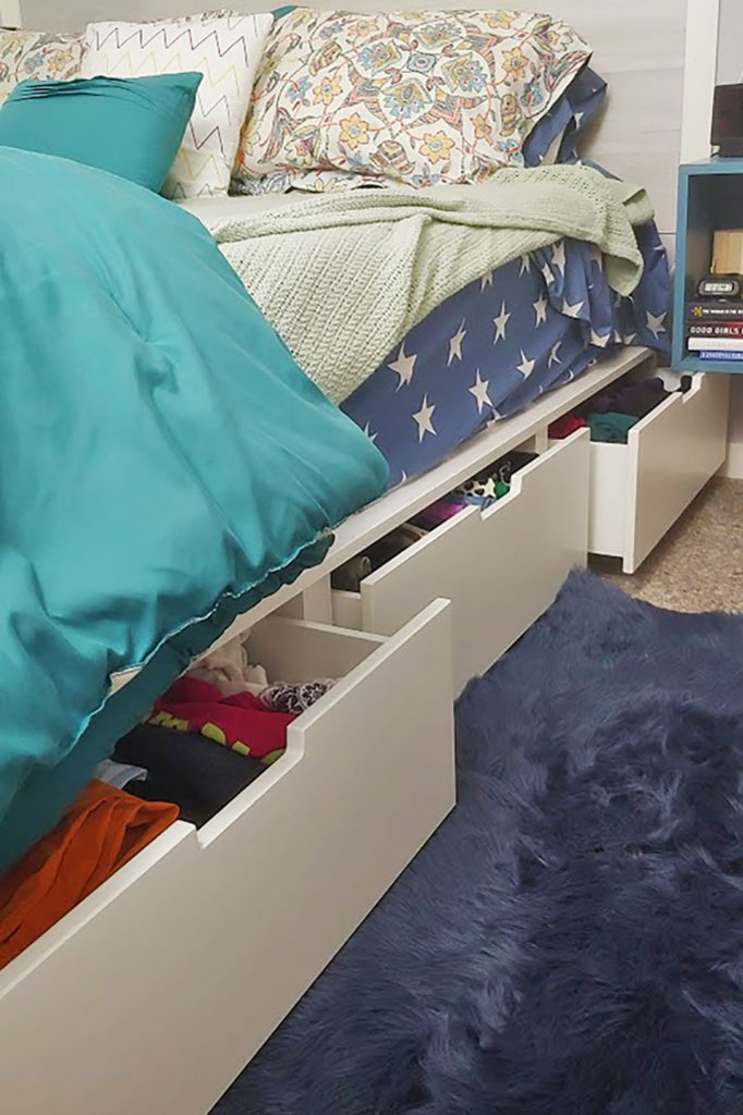Storage bed for small bedroom ideas