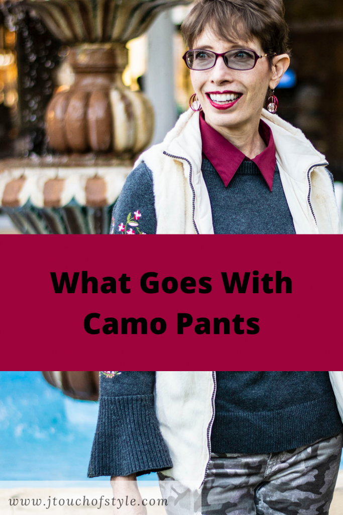 What goes with camo pants