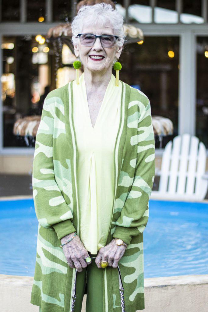 Green camo for older women