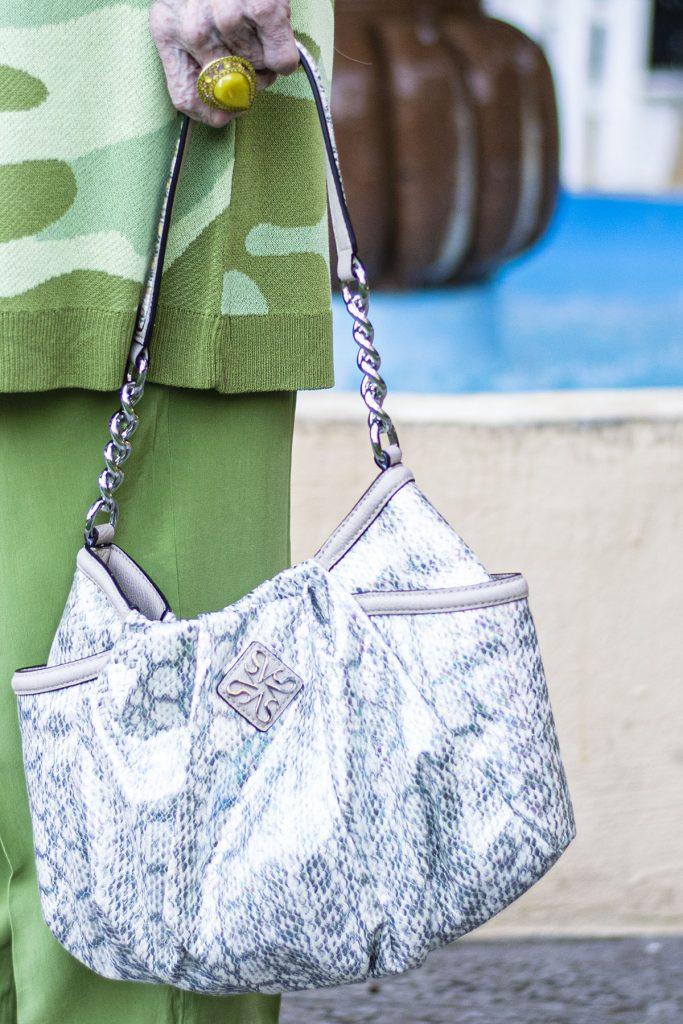 Snakeskin purse