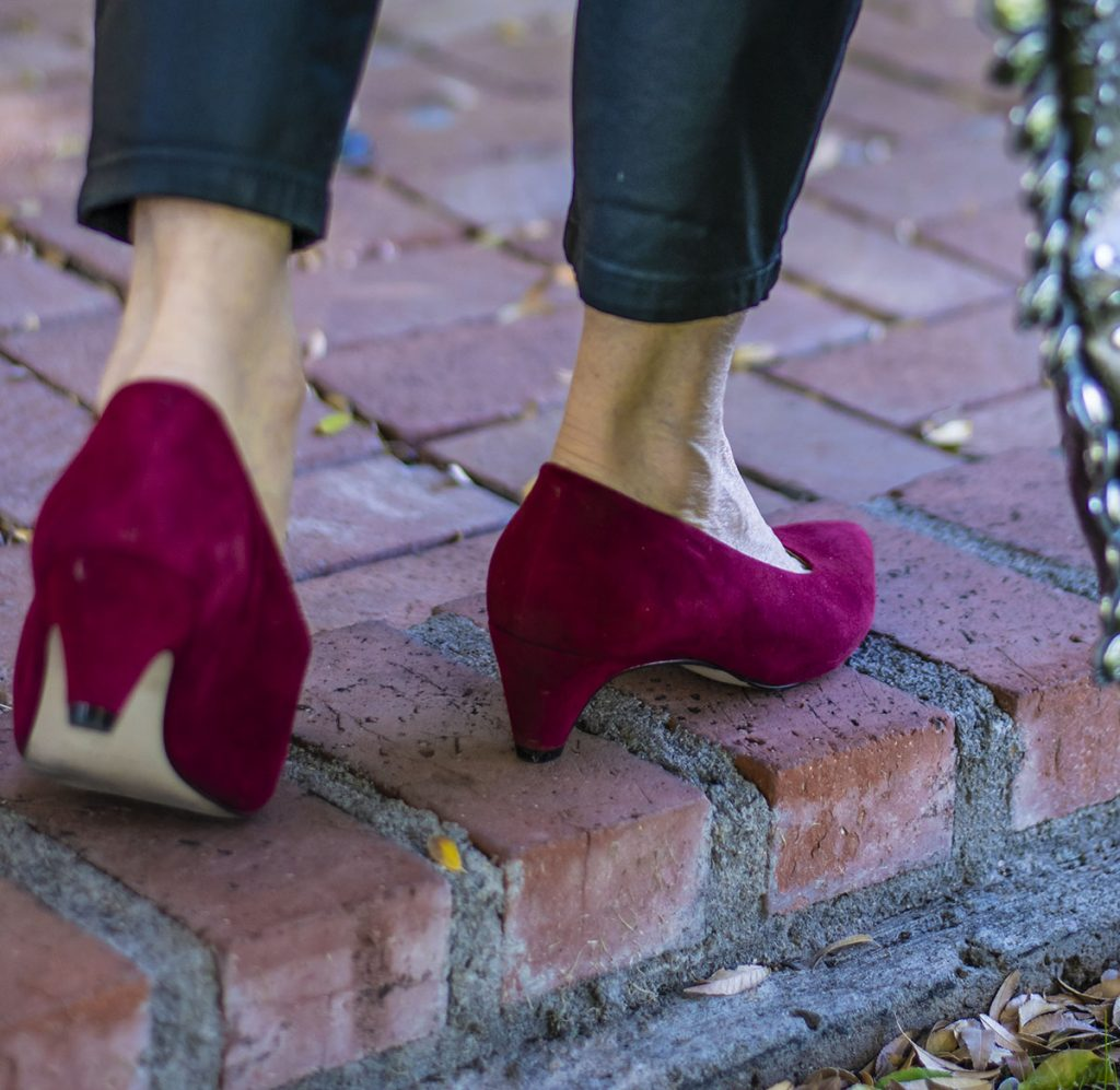 Low heels for a date night outfit