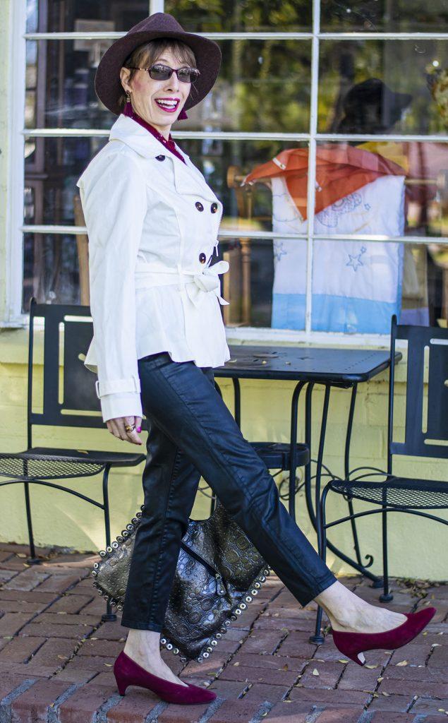 Low heels as a pop of color
