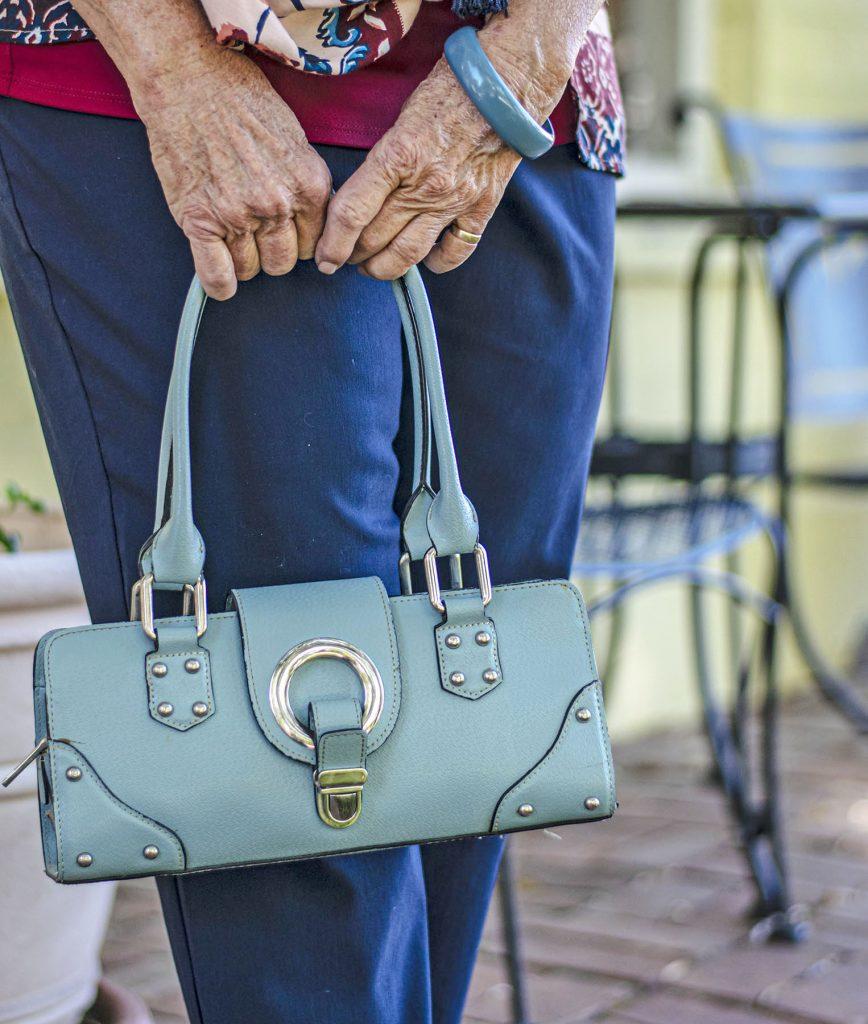 Light blue purse