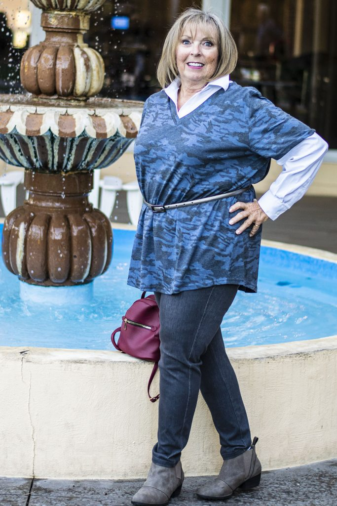 Blue camouflage fashion trend