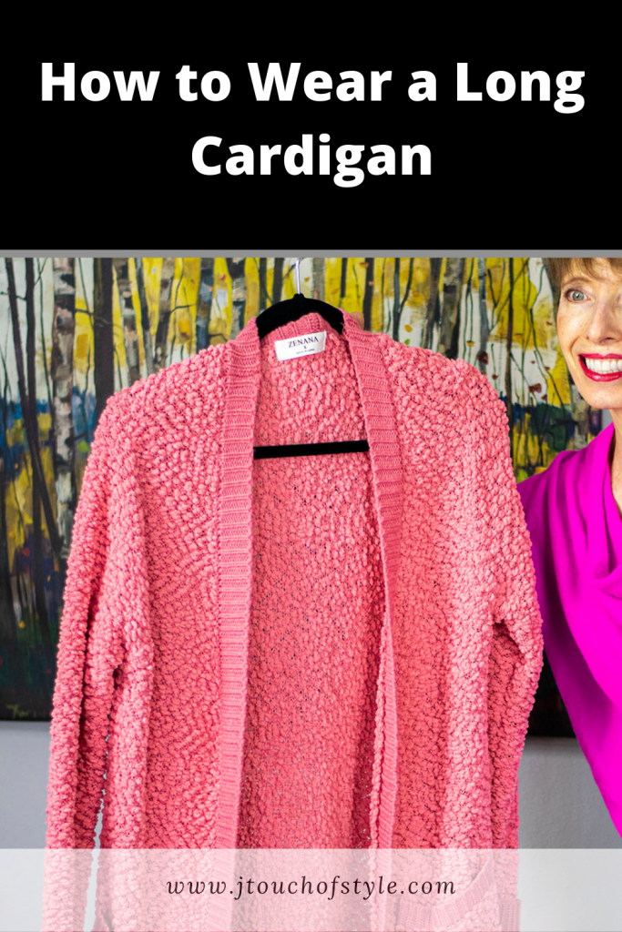 How to wear a long cardigan