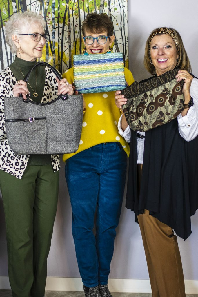 3 Decades of women with types of purses