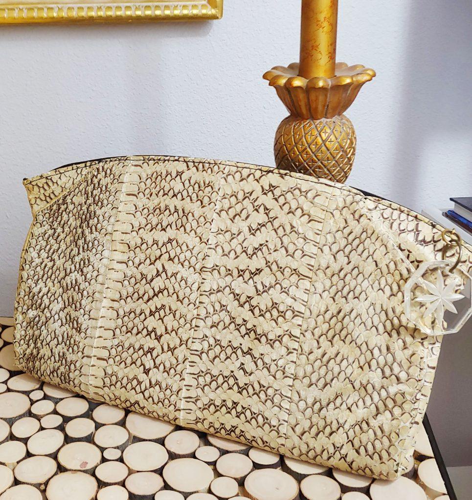 Real snakeskin purse