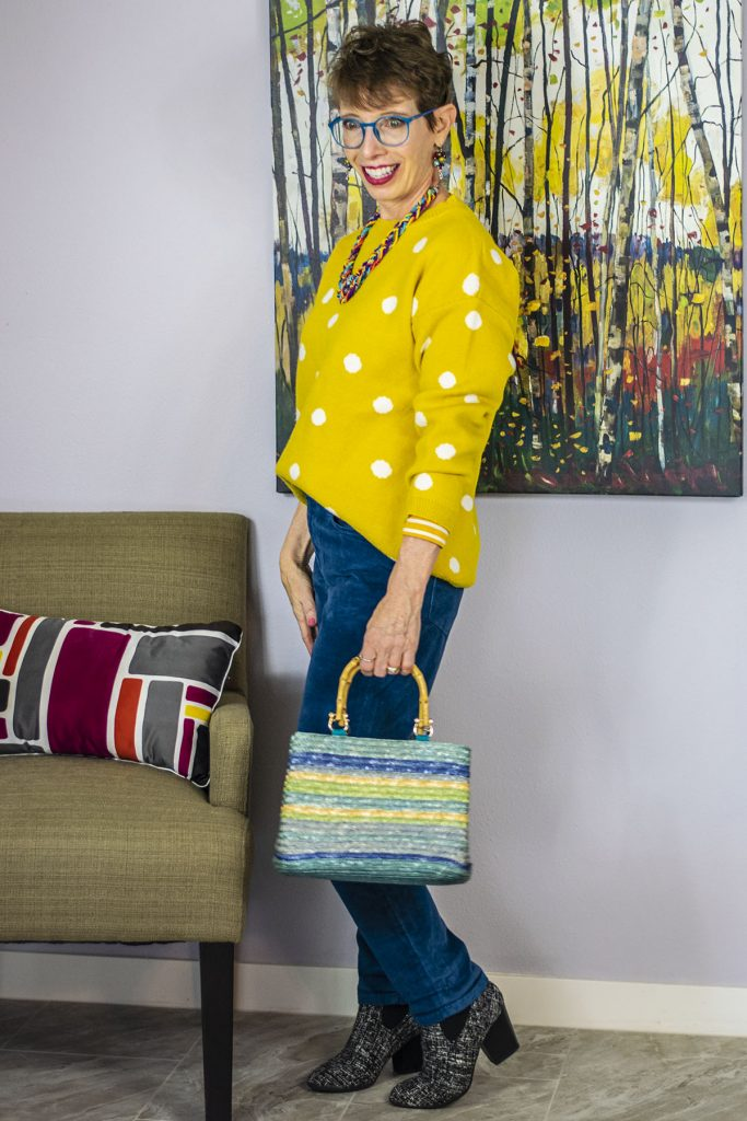 Summer types of purses with a colorful outfit