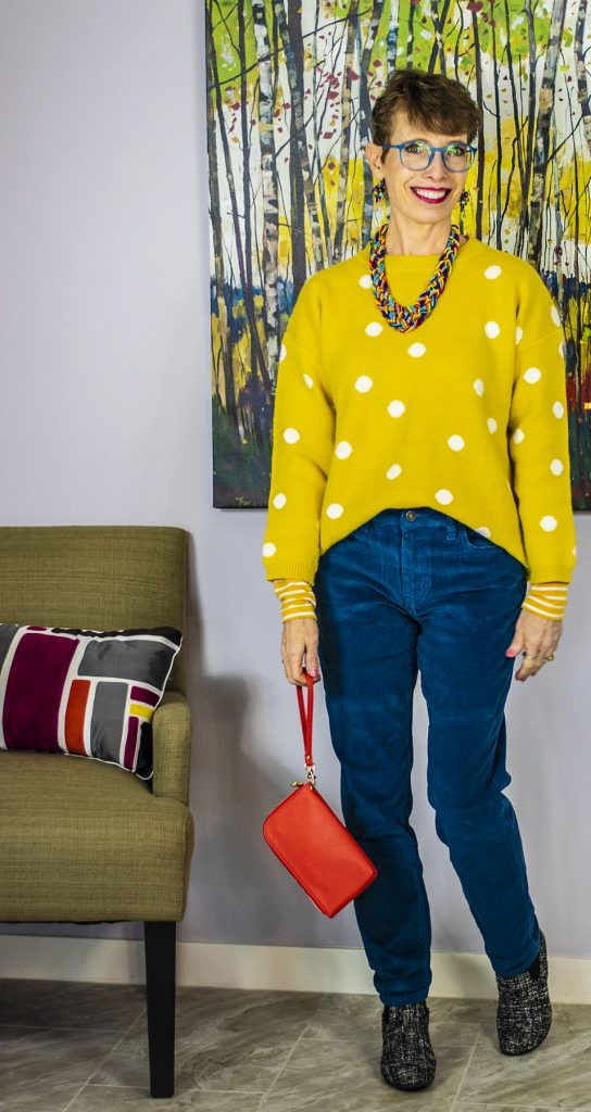 Bright colors for an outfit