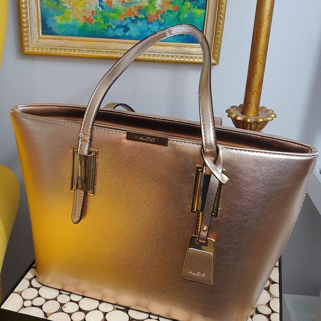 Rose gold purse