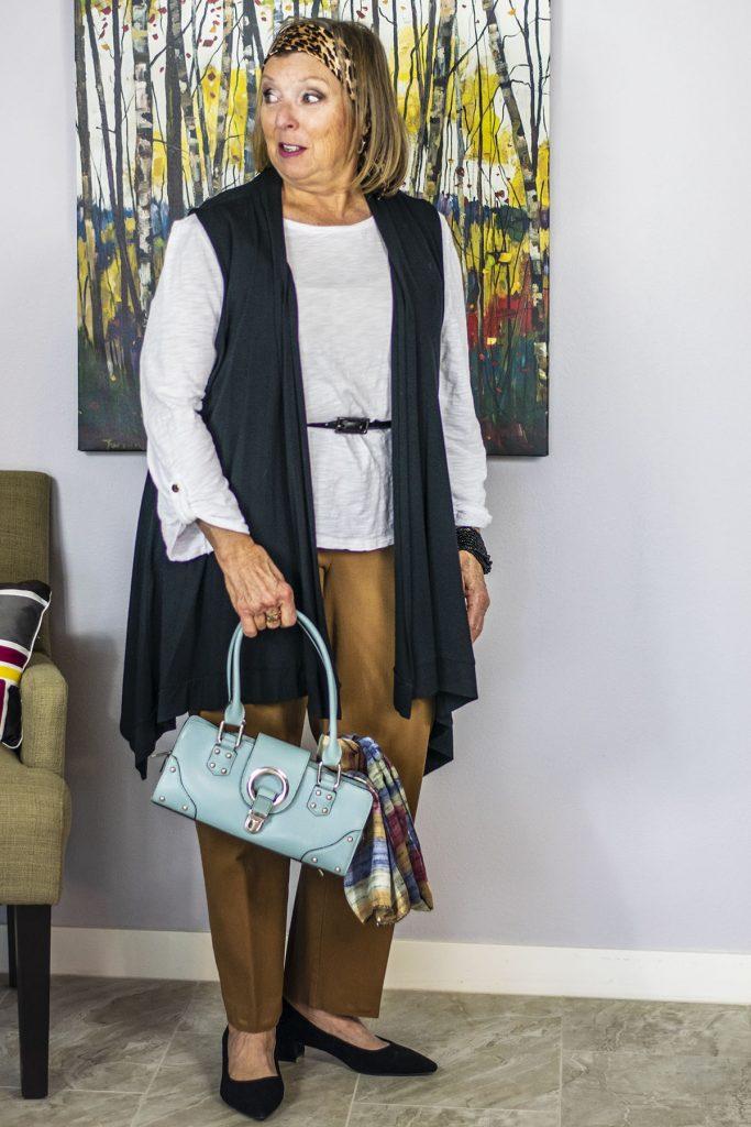 Light blue purse for a subtle color