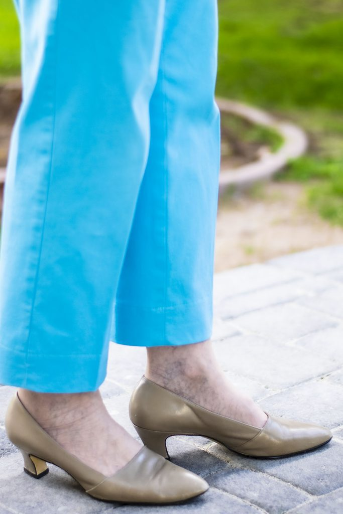 Taupe heels to wear with ankle pants