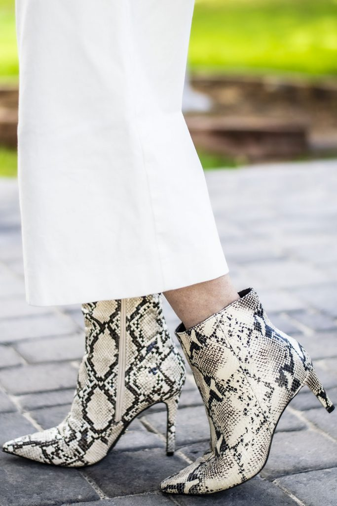 Snakeskin boots and booties