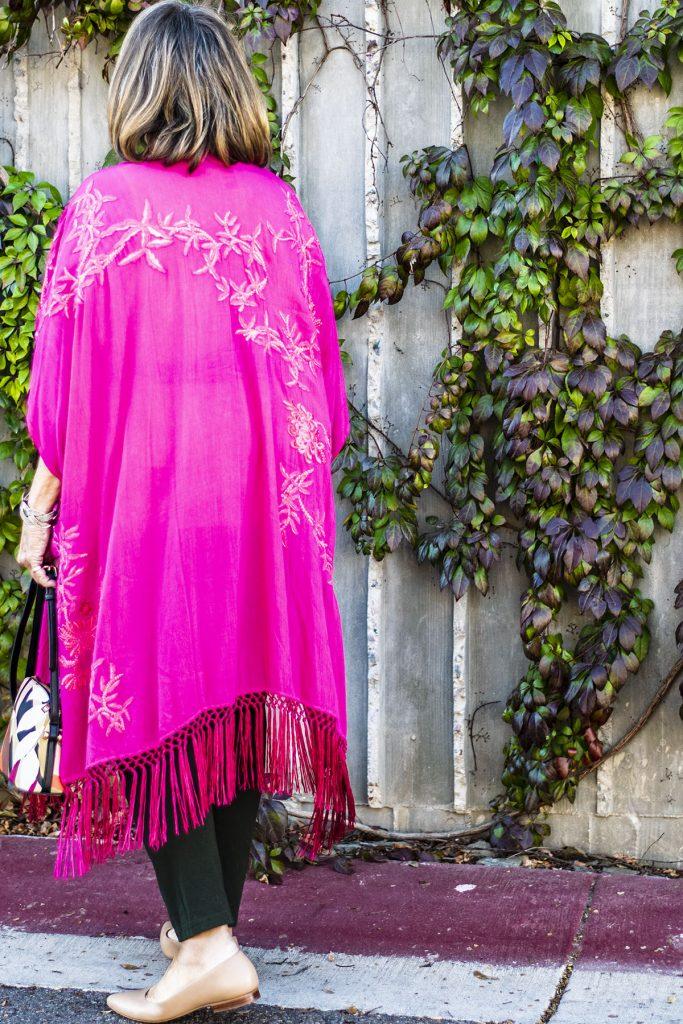 Long kimono for short women