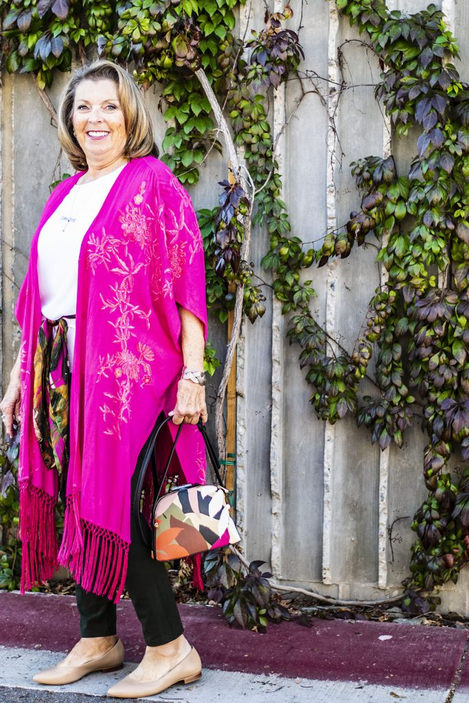 Shades of pink for women's looks