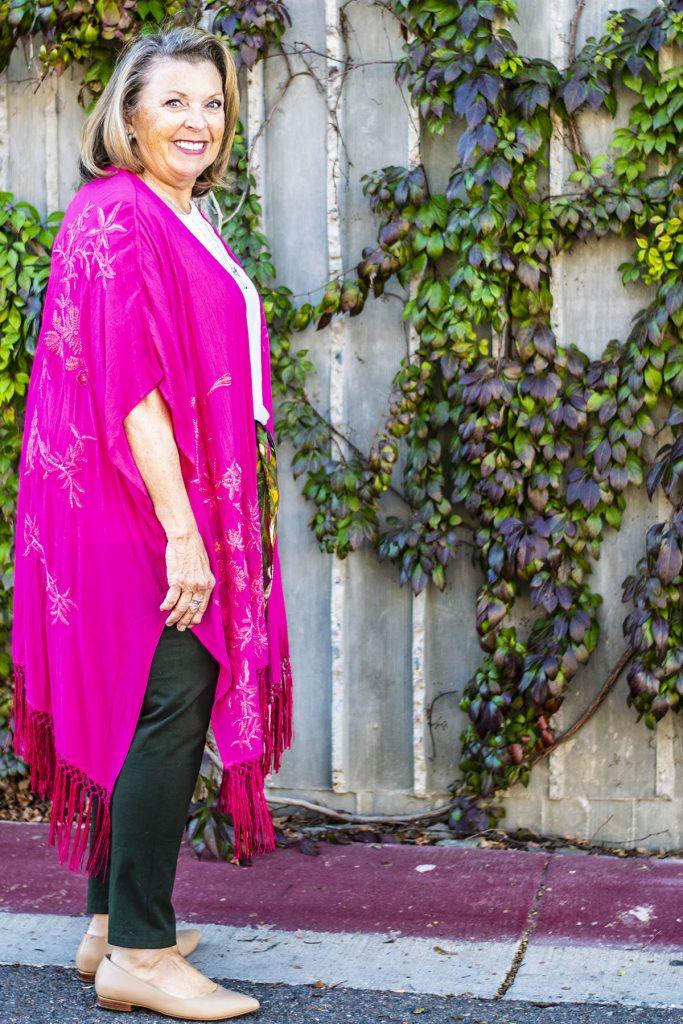 Bright pink kimono for spring