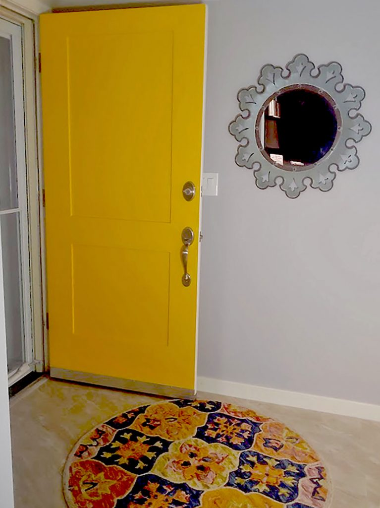 The entry way of our mid century home