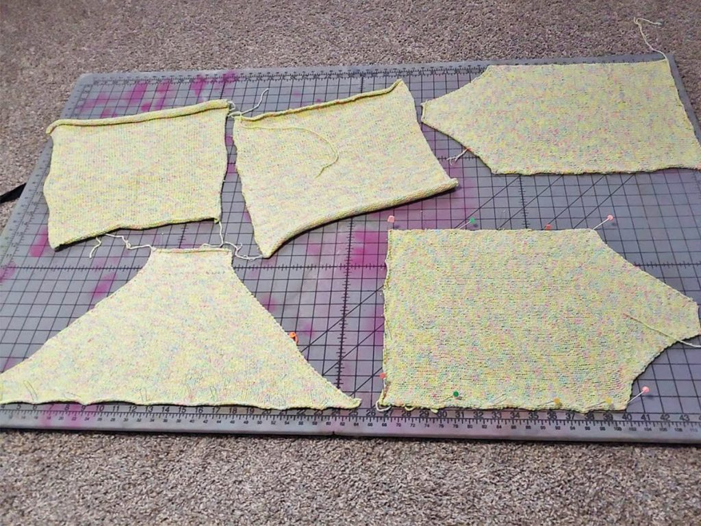 My blocking board and why you block in knitting