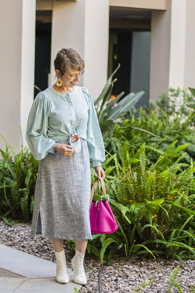 Dress with a blouse over top