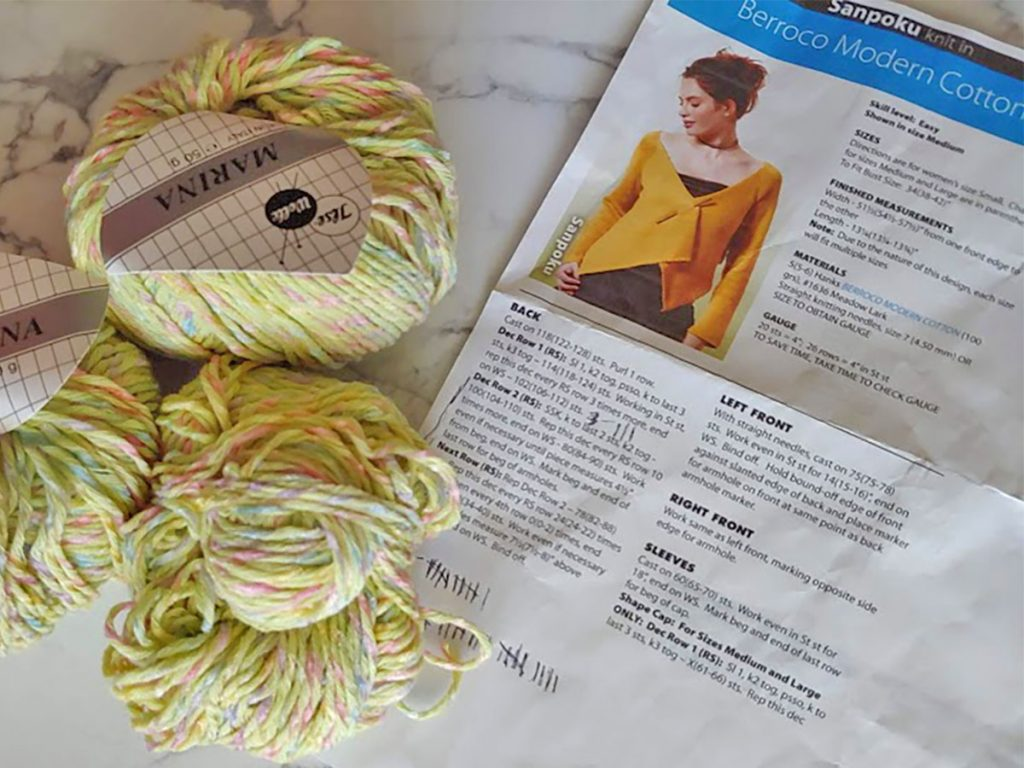 DIY crafts with knitting