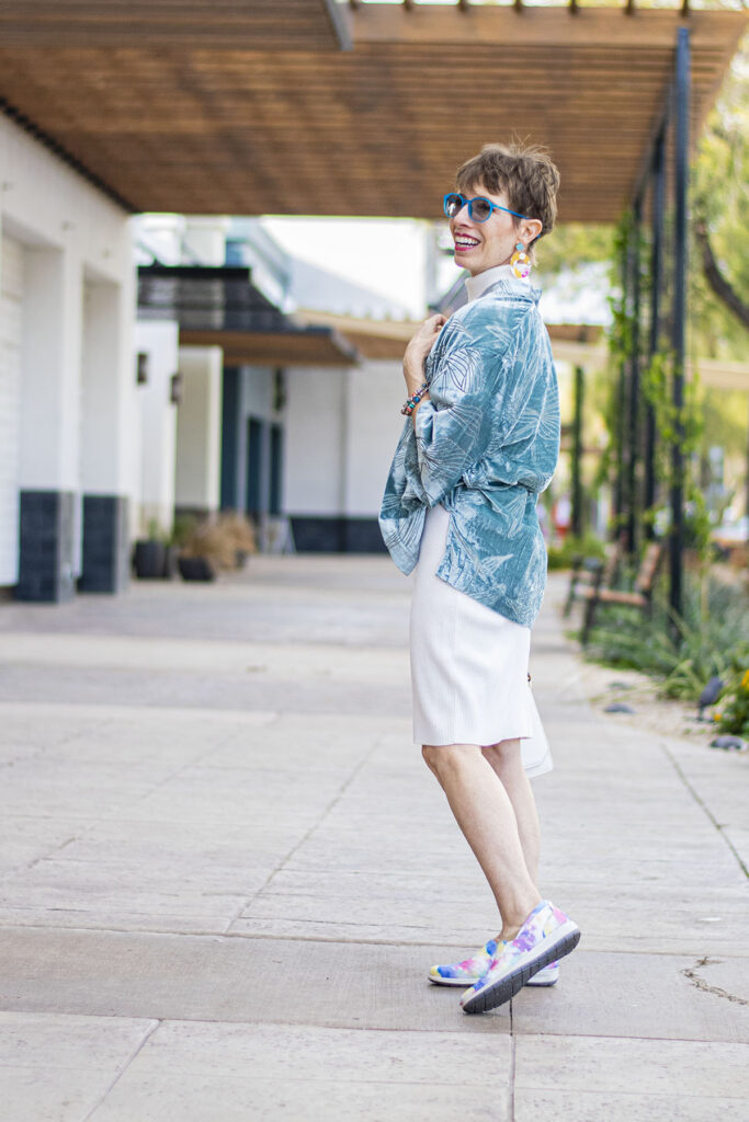 Sneakers and dress for all walks of life