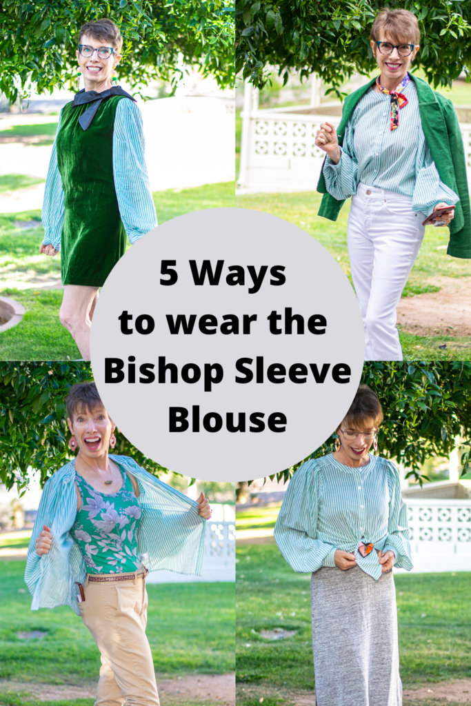 5 ways to wear the bishop sleeve blouse