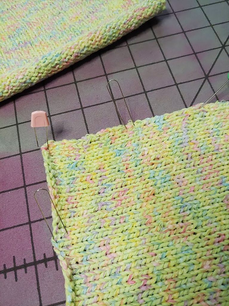 Pinning the blocked pieces for my DIY crafts