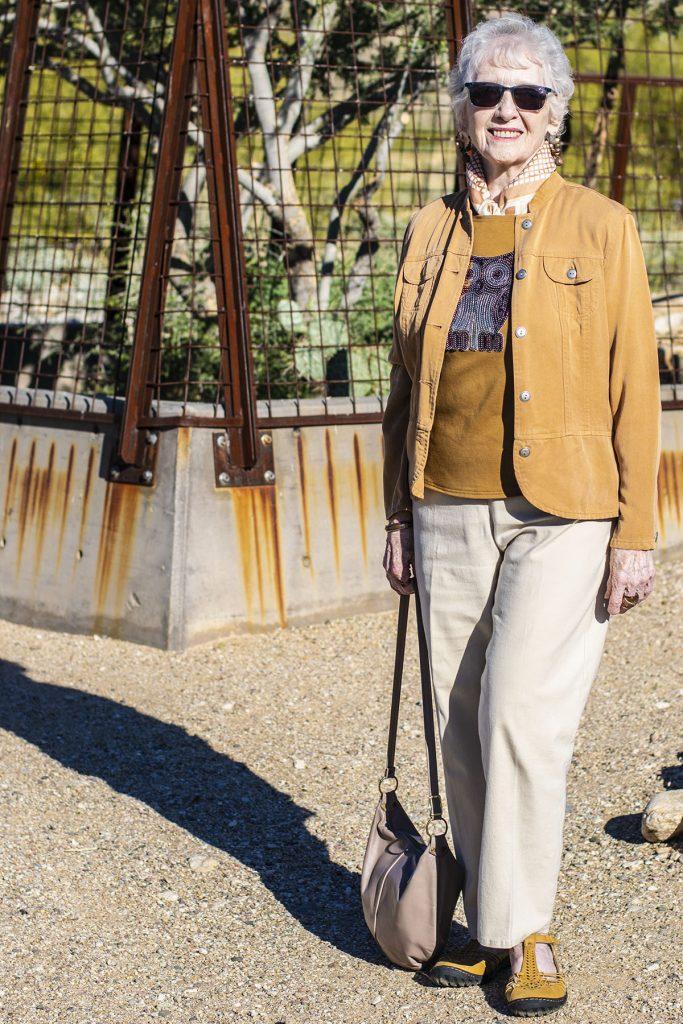 Neutral look for older women