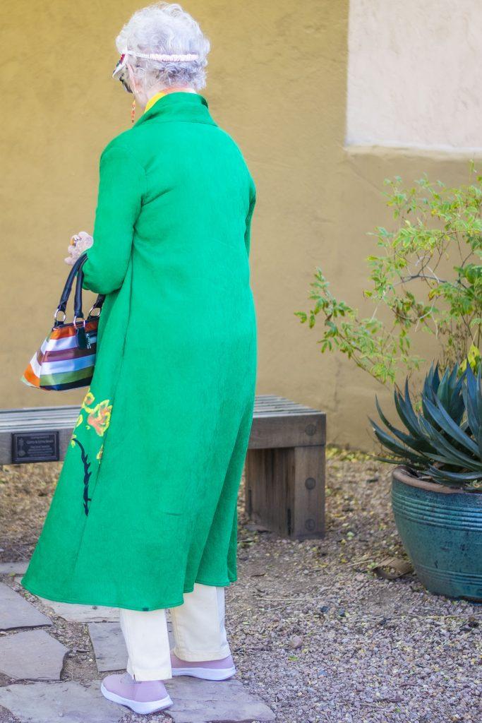 Green kimono outfit for spring