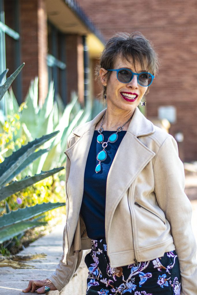 Winter to spring transition outfits for older women