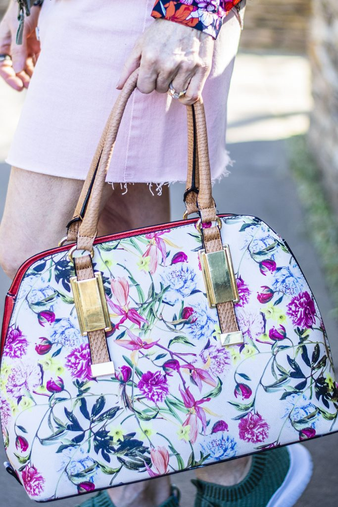 Spring with floral purse