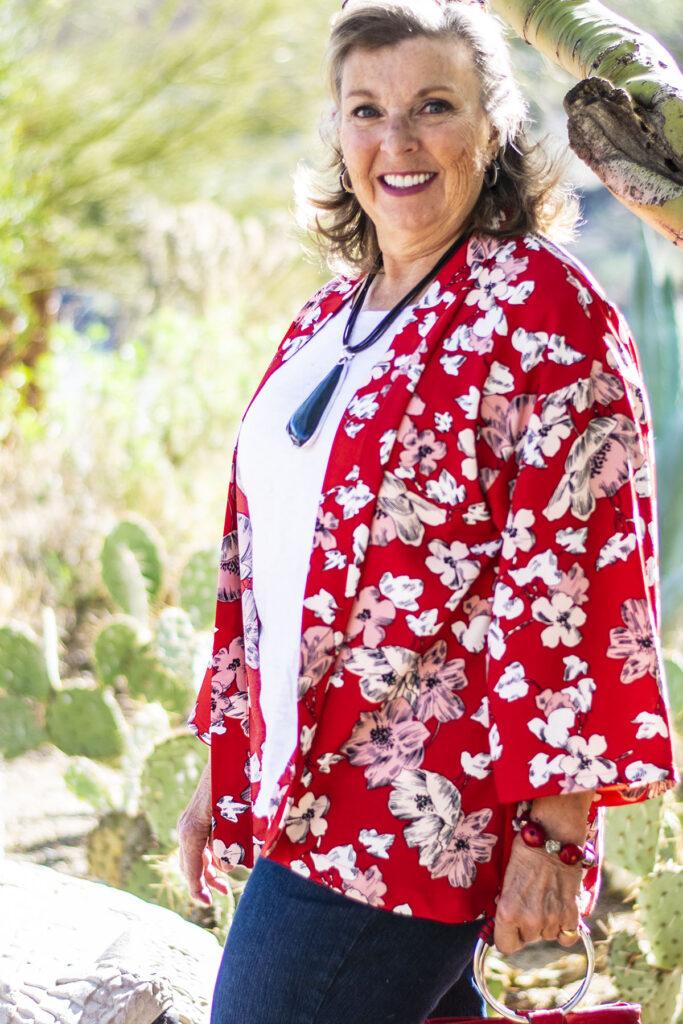 Kimono for spring outfit