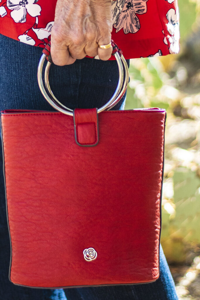 Red purse for stylish women