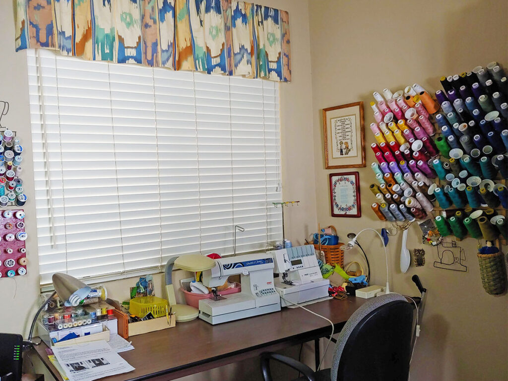 Creative elements for a sewing room