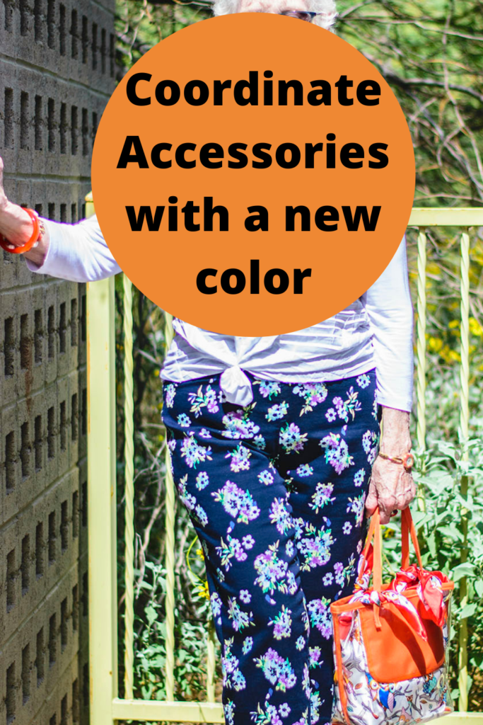 Coordinate accessories with a new color