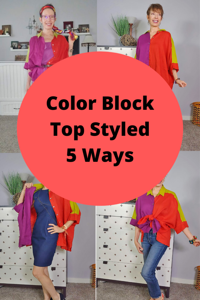 Color block top styled 5 ways