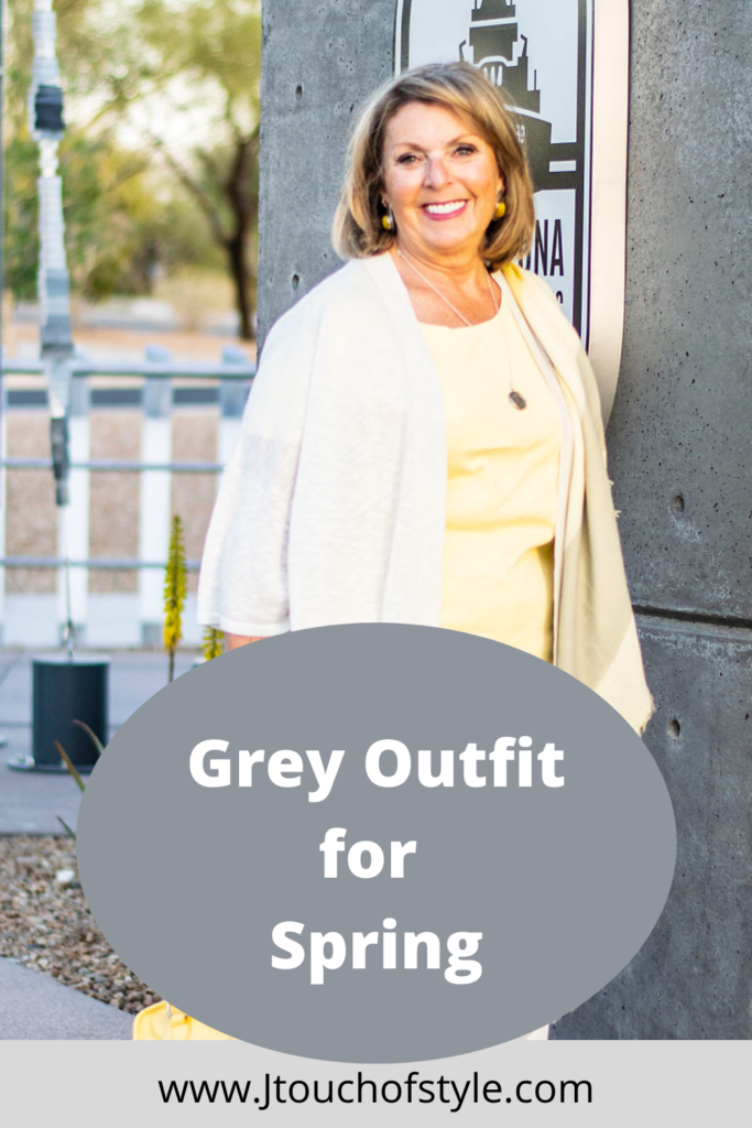 Grey outfit for spring