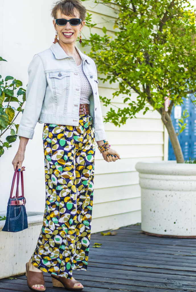 Print mixing as how to wear print pants