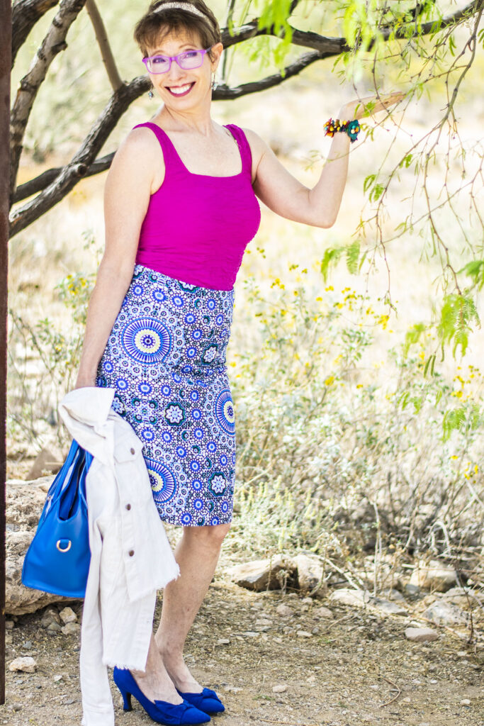 Wearing bright mix and match colors