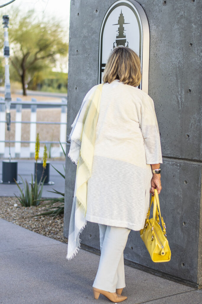How to add color to a grey outfit