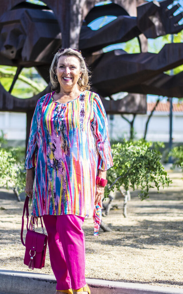 Colorful tunics and pants style