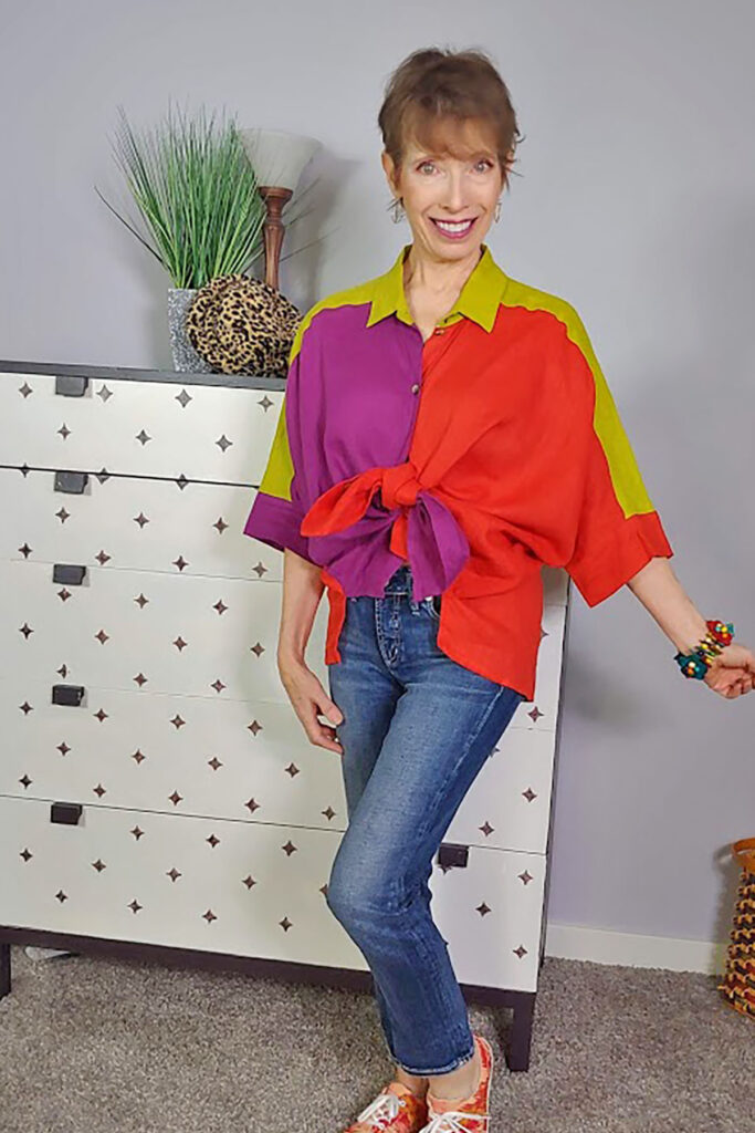 Tie up the front of an oversized top