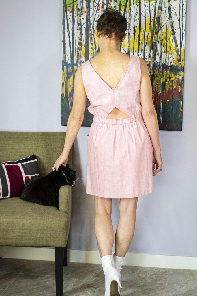 Back of pink dress